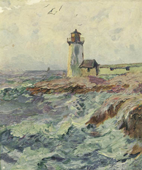 Lighthouse At High Tide