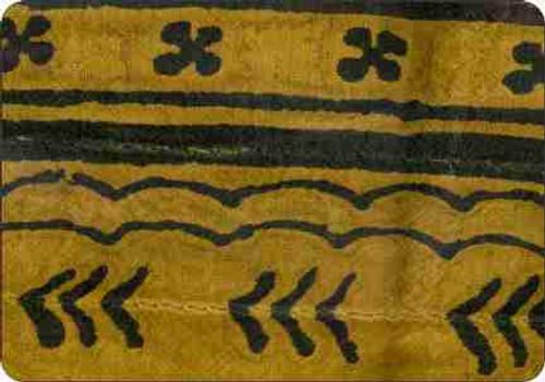 Mudcloth-Mustard Cutting Board-Trivet (African American Cutting Board)