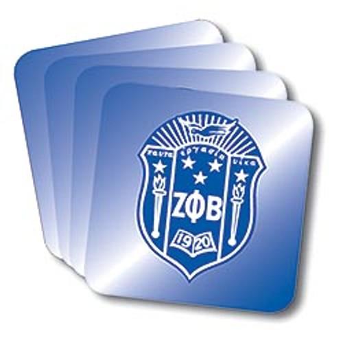 Zeta Phi Beta Coasters (African American Fraternity-Sorority Coaster)