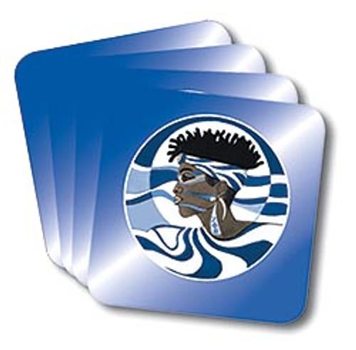 Zeta Profile Coasters (African American Fraternity-Sorority Coaster)