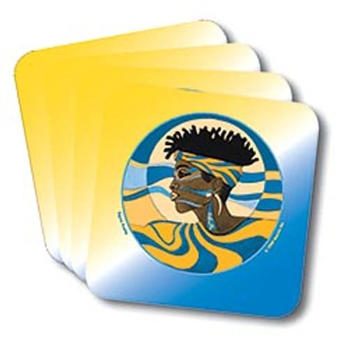 Sigma Gamma Rho Profile Coasters (African American Fraternity-Sorority Coaster)