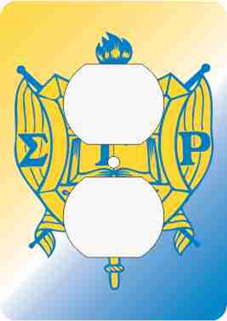 Sigma Gamma Rho Outlet Cover (African American Fraternity-Sorority Light Switch and Outlet Plate Wall Covers)