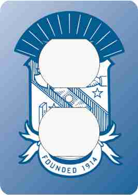 Phi Beta Sigma Outlet Cover (African American Fraternity-Sorority Light Switch and Outlet Plate Wall Covers)