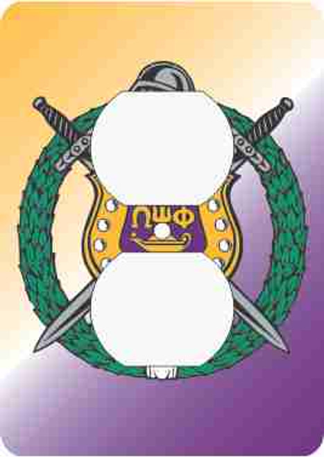 Omega Psi Phi Outlet Cover (African American Fraternity-Sorority Light Switch and Outlet Plate Wall Covers)