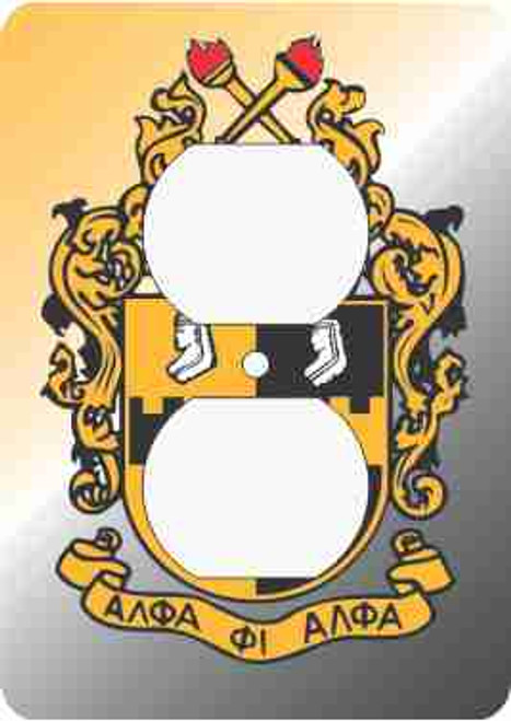 Alpha Phi Alpha Outlet Cover (African American Fraternity-Sorority Light Switch and Outlet Plate Wall Covers)