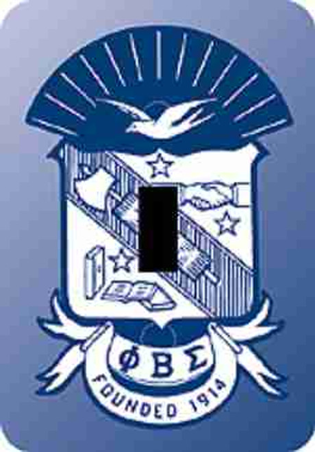 Phi Beta Sigma Switch Plate (African American Fraternity-Sorority Light Switch and Outlet Plate Wall Covers)