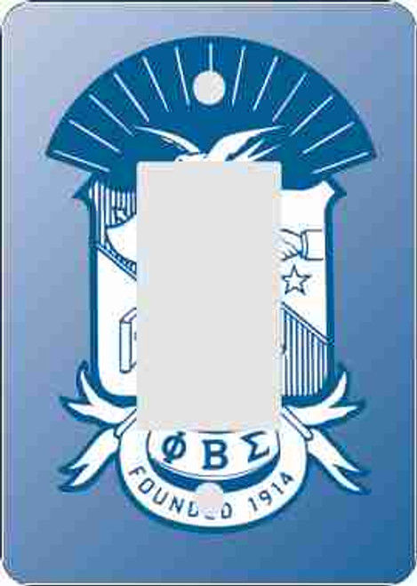 Phi Beta Sigma Rocker Switch Plate (African American Fraternity-Sorority Light Switch and Outlet Plate Wall Covers)