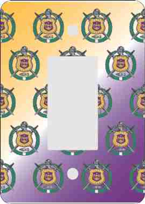 Omega Psi Phi Rocker Switch Plate-Mini Print (African American Fraternity-Sorority Light Switch and Outlet Plate Wall Covers)