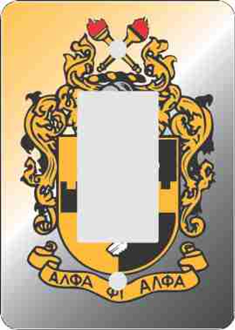 Alpha Phi Alpha Rocker Switch Plate-Mini Print (African American Fraternity-Sorority Light Switch and Outlet Plate Wall Covers)