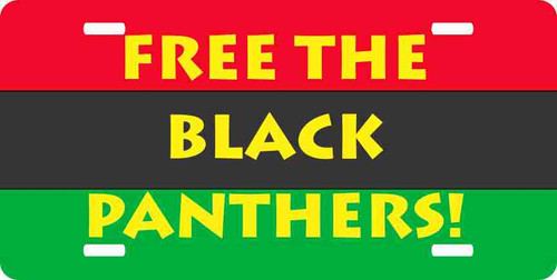 Free the Black Panthers License Plate