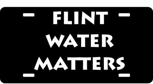 Flint Water Matters License Plate