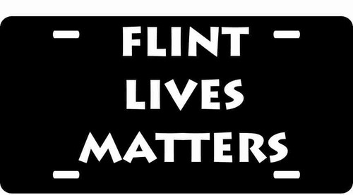 Flint Lives Matter License Plate