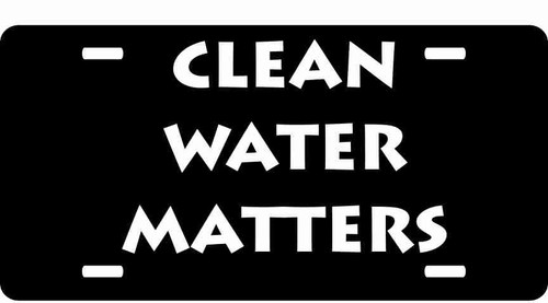 Clean Water Matters License Plate