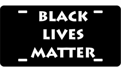 Black Lives Matter License Plate