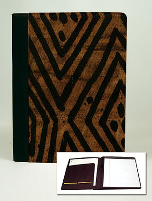Mudcloth-Brown Padfolio Notebook