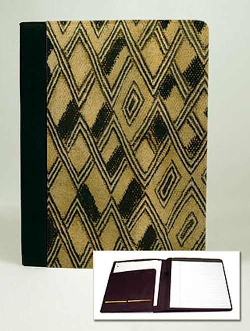 Kuba Cloth Padfolio Notebook