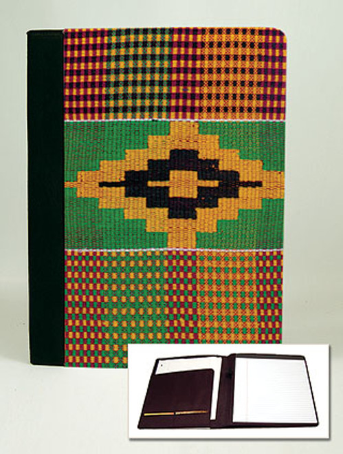 Kente Cloth Padfolio Notebook