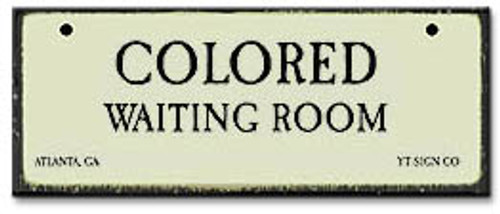 Colored Waiting Room-Segregation Civil Rights Magnet
