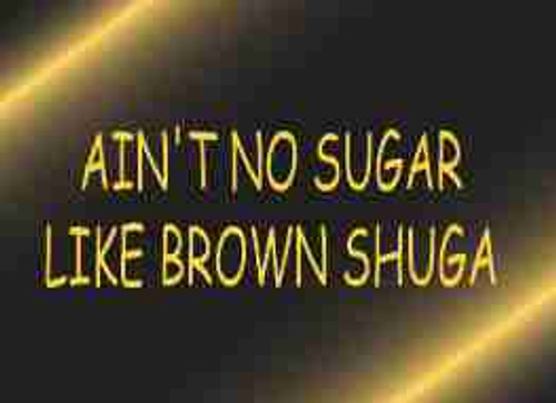 Ain't No Sugar like Brown Shuga Refrigerator Magnet (African American Magnet)