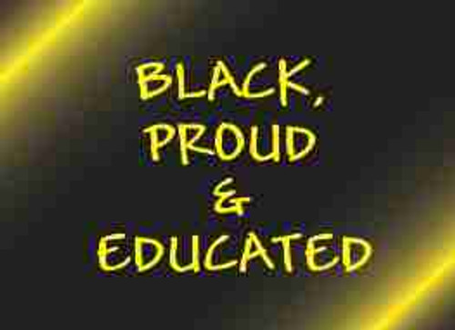 Black, Proud and Educated Refrigerator Magnet (African American Magnet)