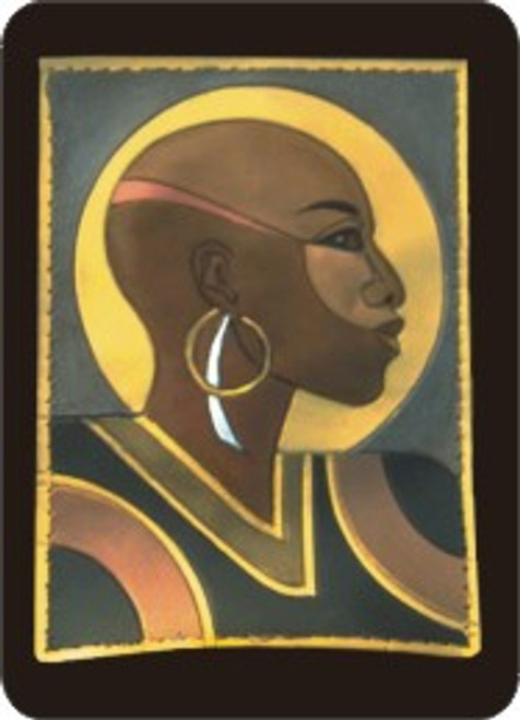 Bald Woman Refrigerator Magnet (African American Magnet)