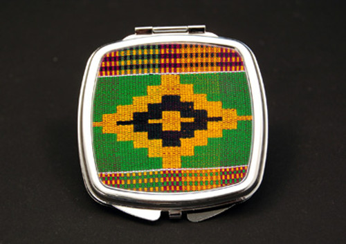 Kente Dual Mirror Compact (African American Dual Mirror Compact)