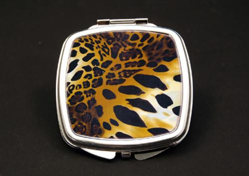 Cheetah Dual Mirror Compact (African American Dual Mirror Compact)