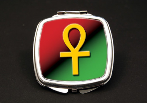 Ankh Dual Mirror Compact (African American Dual Mirror Compact)