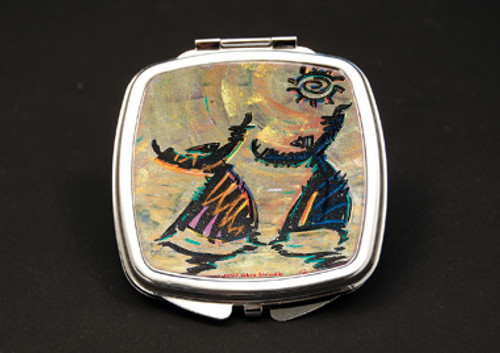 Give Thanks Dual Mirror Compact (African American Dual Mirror Compact)