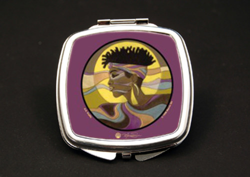 A. K. Profile Dual Mirror Compact (African American Dual Mirror Compact)