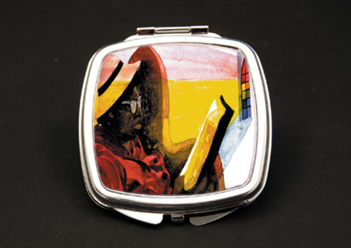 In The Word Dual Mirror Compact (African American Dual Mirror Compact)