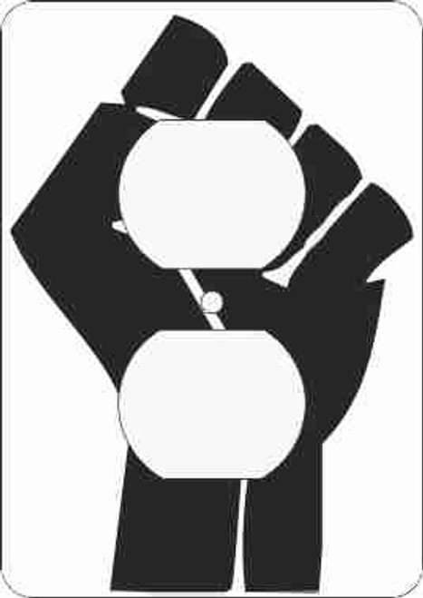 Black Power Fist Outlet Cover (African American Outlet Plate)