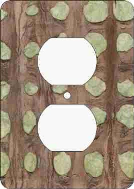Barkskin(tm) Olive Outlet Cover (African American Outlet Plate)