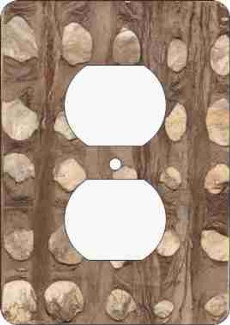 Barkskin(tm) Marble Outlet Cover (African American Outlet Plate)