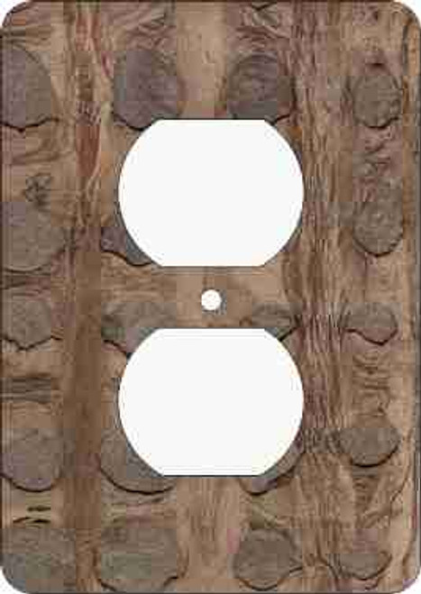 Barkskin(tm) Cinnamon Outlet Cover (African American Outlet Plate)