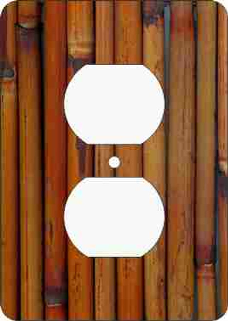Bamboo Outlet Cover (African American Outlet Plate)