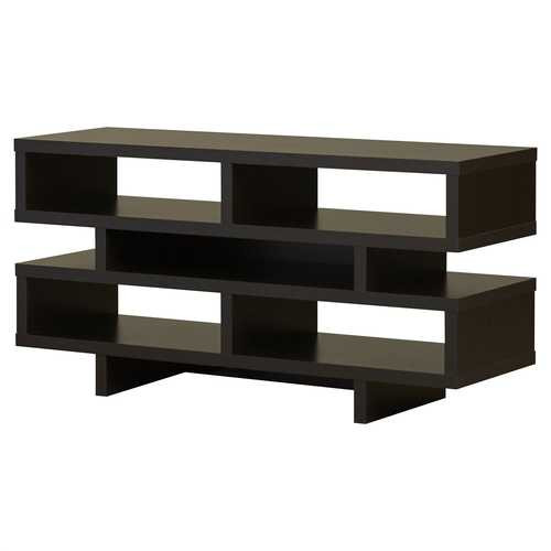Modern TV Stand Entertainment Center in Dark Brown Cappuccino Wood Finish Q280-DTVSC51982410