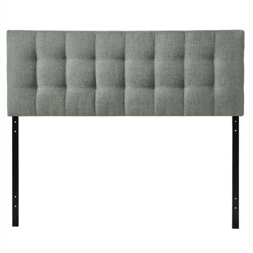 King size Grey Fabric Modern Button-Tufted Upholstered Headboard Q280-KGFUG9847512