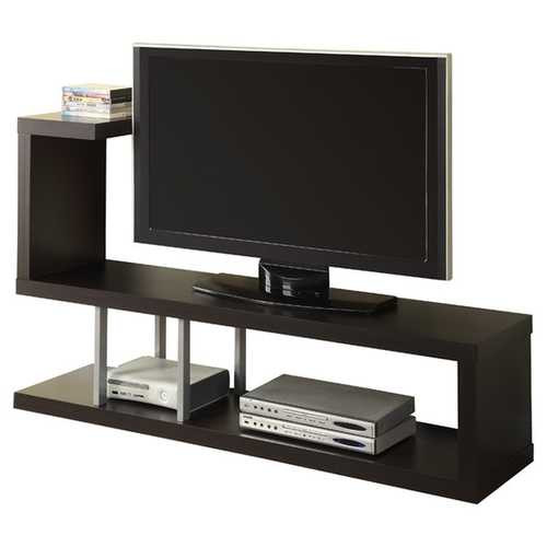 Modern Entertainment Center TV Stand in Cappuccino Finish Q280-MTVS5198454157