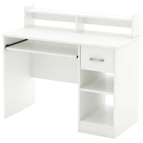 Contemporary Home Office Computer Desk in White Wood Finish Q280-SACDW9941