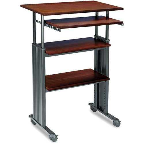 Adjustable Height Stand Up Computer Desk Workstation in Cherry Q280-SMSUAH26198