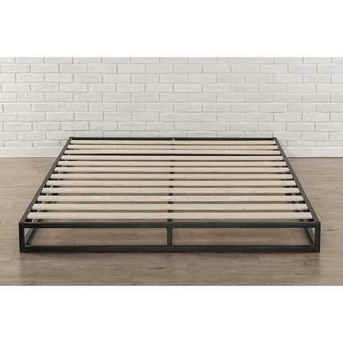 Queen size 6-inch Low Profile Metal Platform Bed Frame with Wooden Slats Q280-Z6INCBT1987155