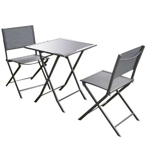 Outdoor 3-Piece Patio Furniture Folding Table Chair Set Q280-GBSGF152893821