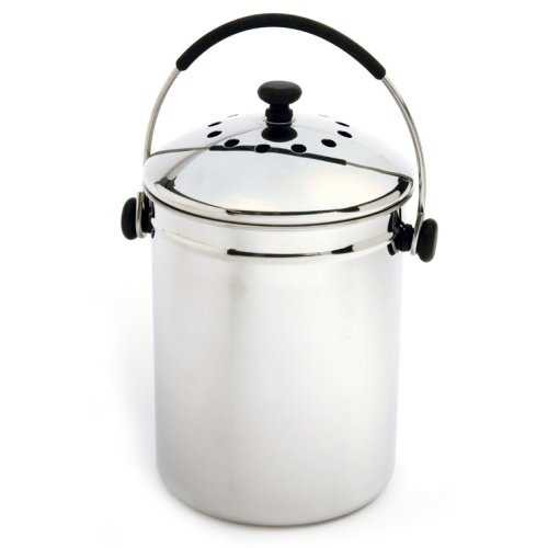 Stainless Steel Kitchen Compost Keeper Bin with Charcoal Filter Q280-NGEZSC3493