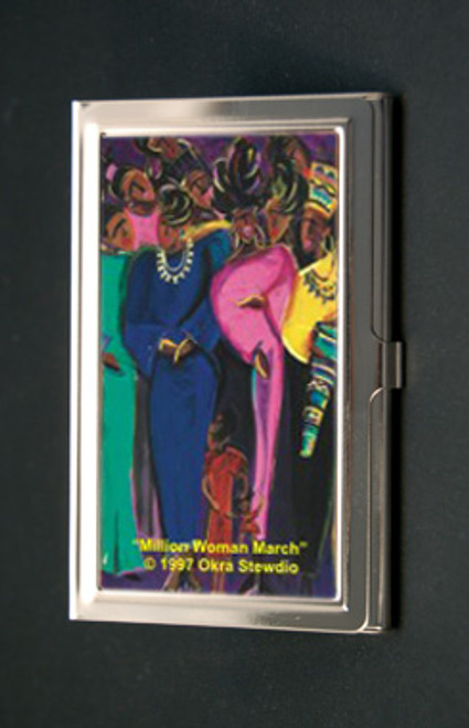 Million Woman March Business Card Holder (African American Business Card Cases)