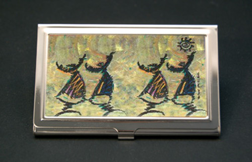 Give Thanks Business Card Holder (African American Business Card Cases)