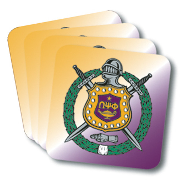Omega Psi Phi Coasters (African American Fraternity-Sorority Coaster)