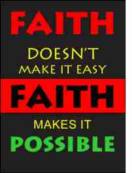 Faith Males it Possible Refrigerator Magnet (African American Magnet)