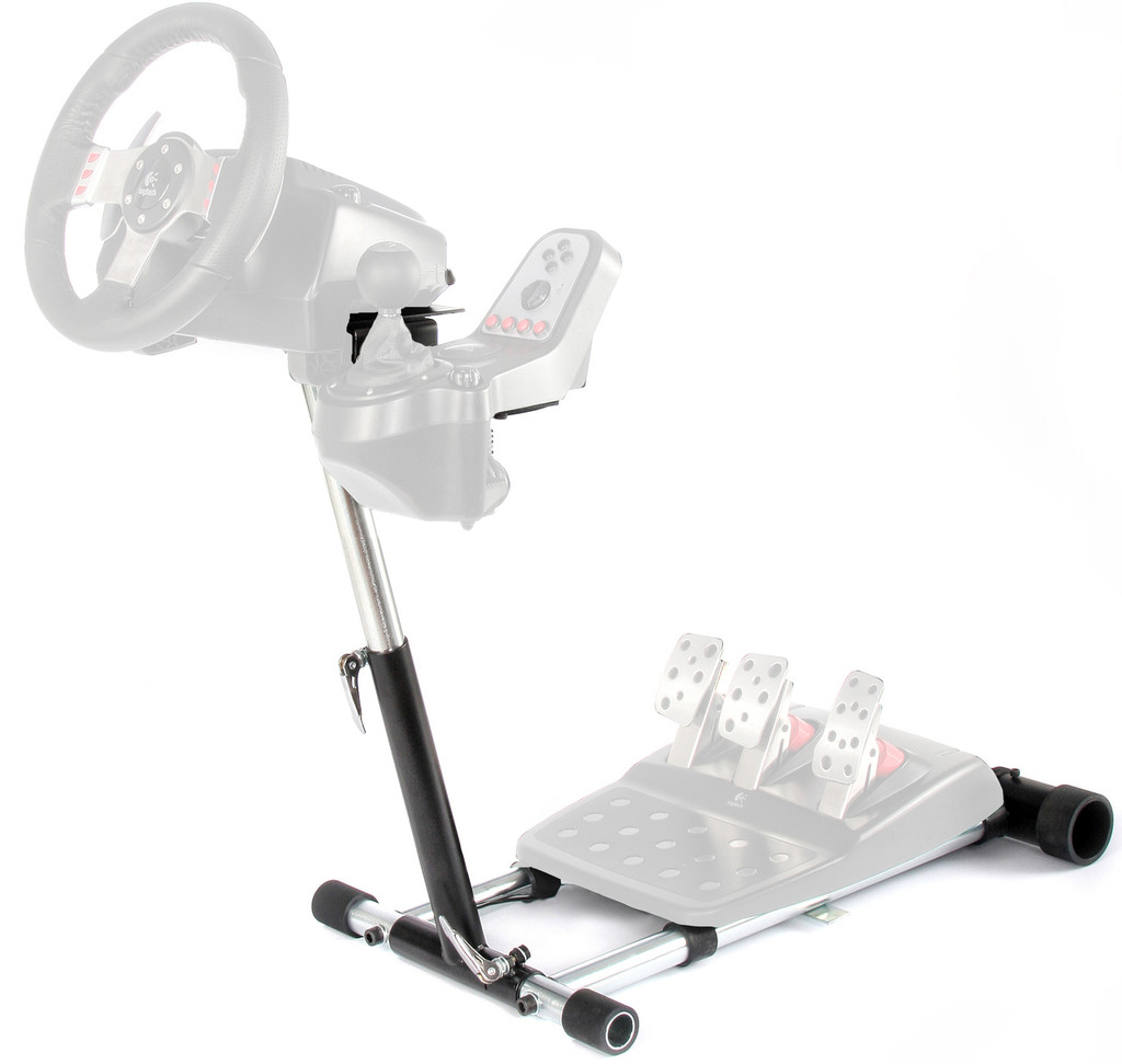 Wheel Stand Pro G Deluxe Compatible With Logitech G27/G25/G29/G920 wheels.   Deluxe V2. Wheel and Pedals not included.