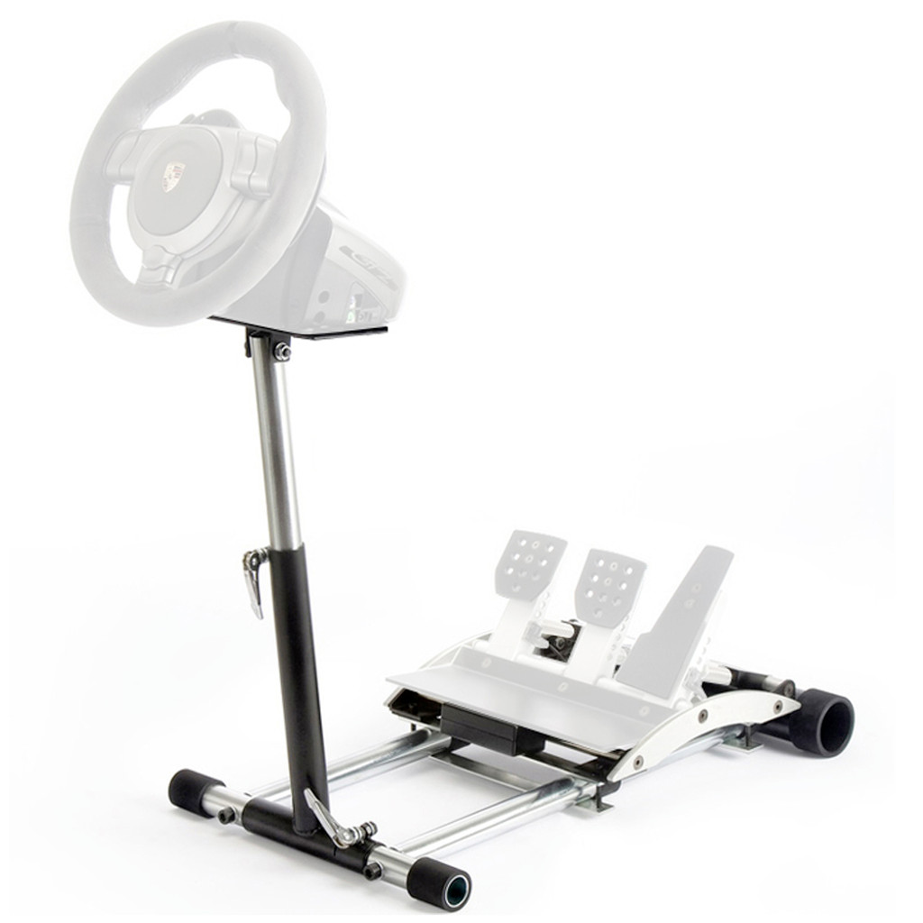Wheel Stand Pro CSL GT2 Racing Steering Wheelstand Compatible With Fanatec CSL/CSL Elite Wheel and Pedals/CSP/CSP V2/V3,GT2/GT3RS, CSR/CSR Elite CSP/CSR/CSR Elite Pedals. V2 Deluxe Wheel Stand Pro stand - Black. Wheel and Pedals Not included